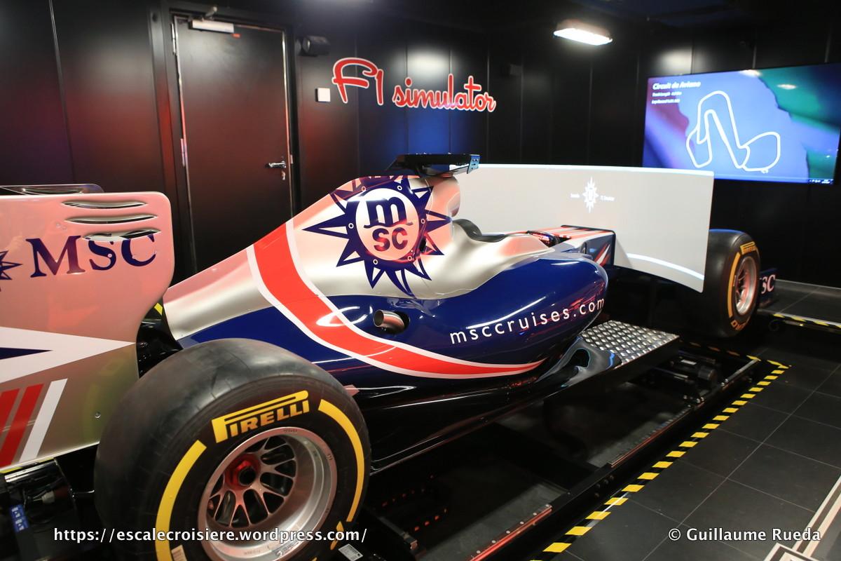MSC Seaside - Simulateur de F1