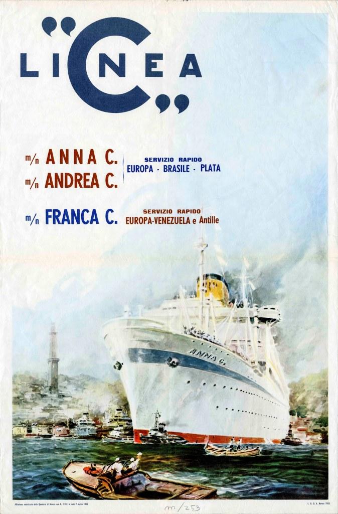 Anna C - Andrea C - Franca C - Linea C - 1955 - Costa Croisieres