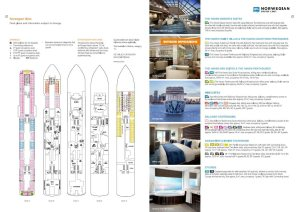 Norweian Bliss - Plan des ponts - cruise deckplan