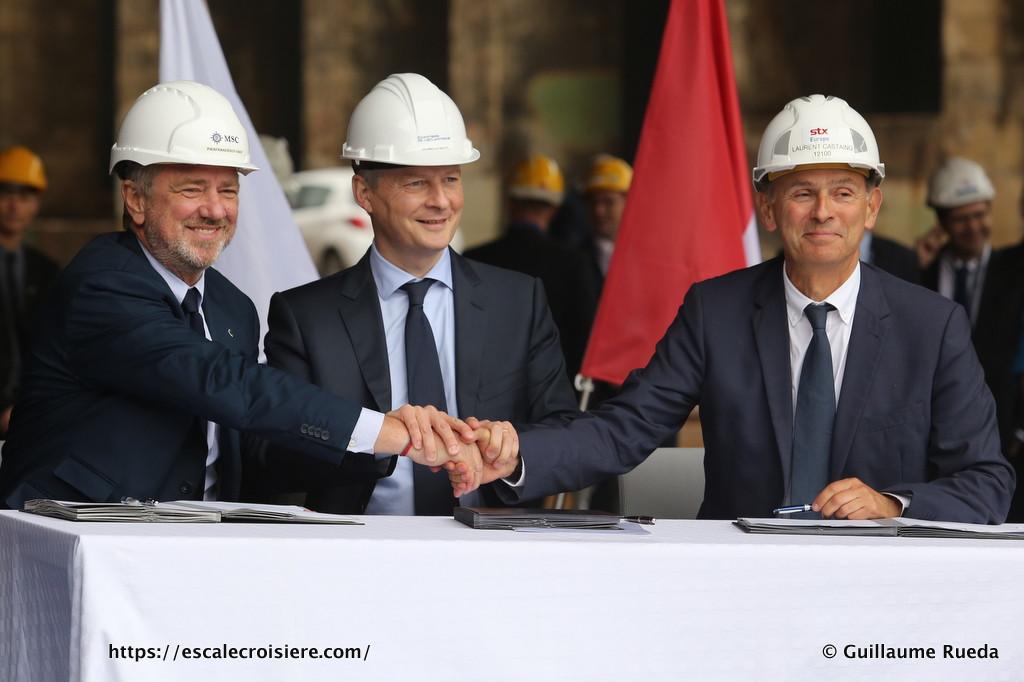 MSC Croisières - STX France - Signature de contrats (3)