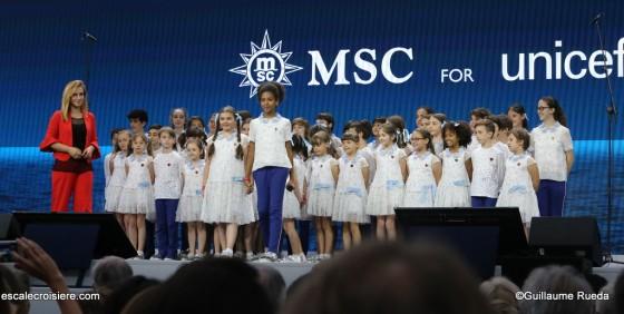 MSC Seaview - Baptême - Gênes Piccolo coro dell'Antoniano