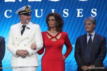 MSC Seaview - Baptême - Pier Paolo Scala - Sofia Loren - Gianluigi Aponte (2)
