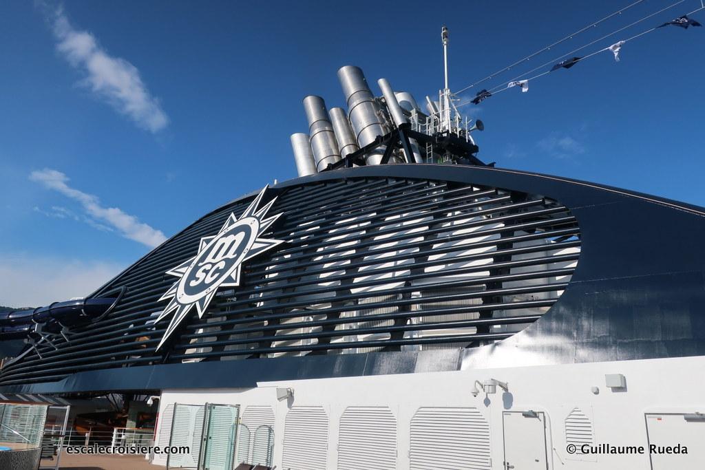 MSC Seaview - cheminée