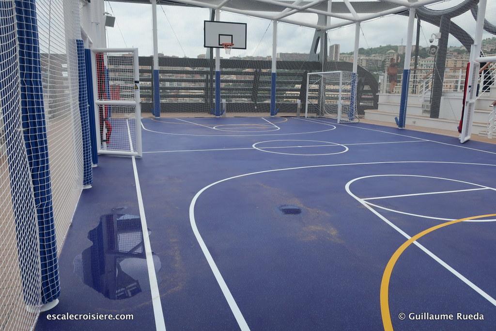 MSC Seaview - terrain de basket