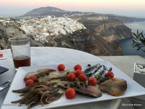 Santorin - Fira - Mezze de poisson