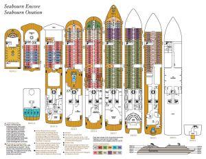 Seabourn Ovation - Plan des ponts