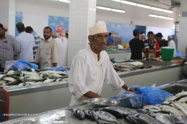 mascate - oman - marché aux poissons