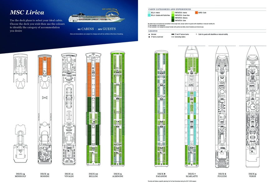 MSC Lirica - Plan des ponts 2015