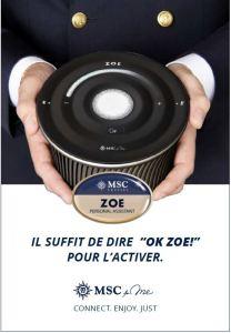 MSC ZOE - Premier assistant personnel de croisière