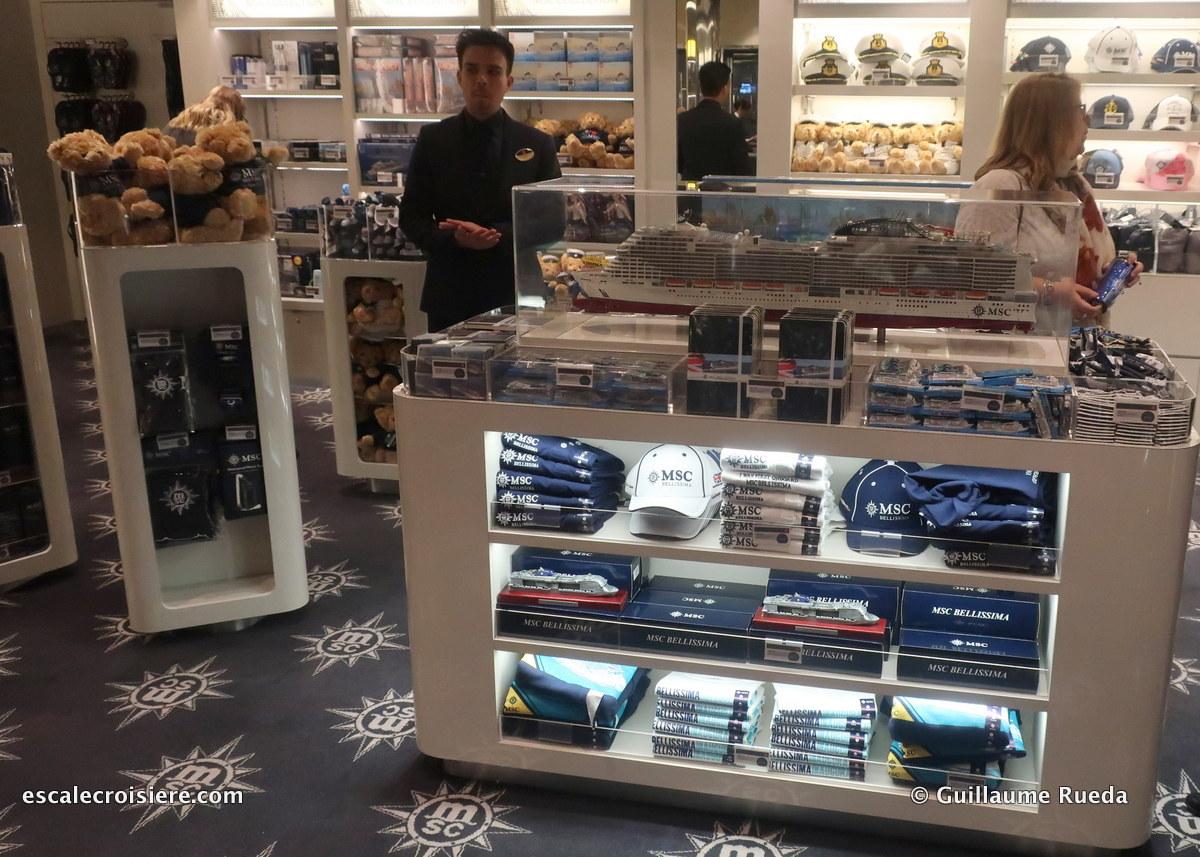 MSC Bellissima boutique MSC