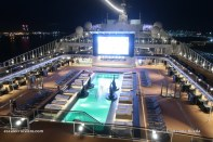 MSC Bellissima by night - Horizon pool
