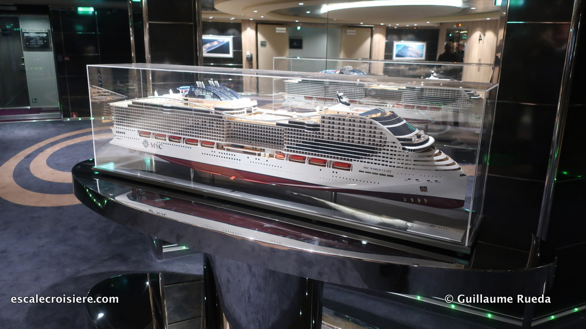 MSC Bellissima - Pont 14 MSC World class maquette
