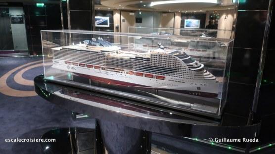 MSC Bellissima - Pont 14 MSC World class maquette