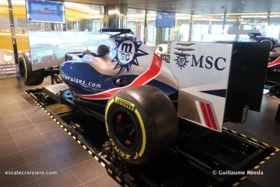 MSC Bellissima - Simulateur de Formule 1