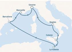 Costa Croisière - Itinéraire Fascinosa - Tour méditerranée