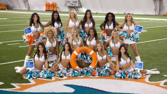 Norwegian Getaway God mothers - Dolphins cheerleaders - Dolphins cheerleaders