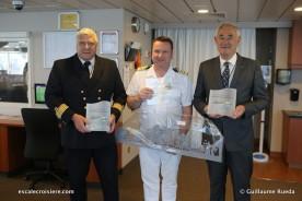 Norwegian Getaway - Echange de plaques avec les autorités havraises