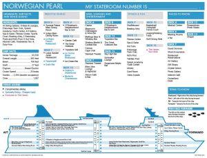 Norwegian Pearl - Plan des ponts