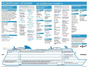 Plan des ponts Norwegian Getaway deck plan