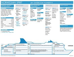 Plan des ponts Norwegian Spirit Deck plan