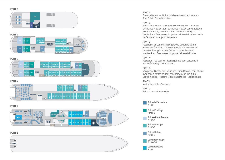 Plan des ponts - Ponant Explorers - Dumont D'Urville