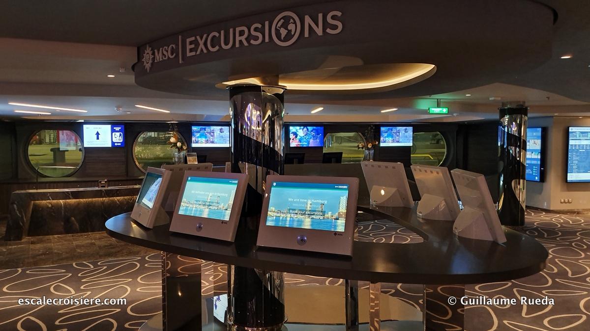 MSC Grandiosa - Bureau des excursions