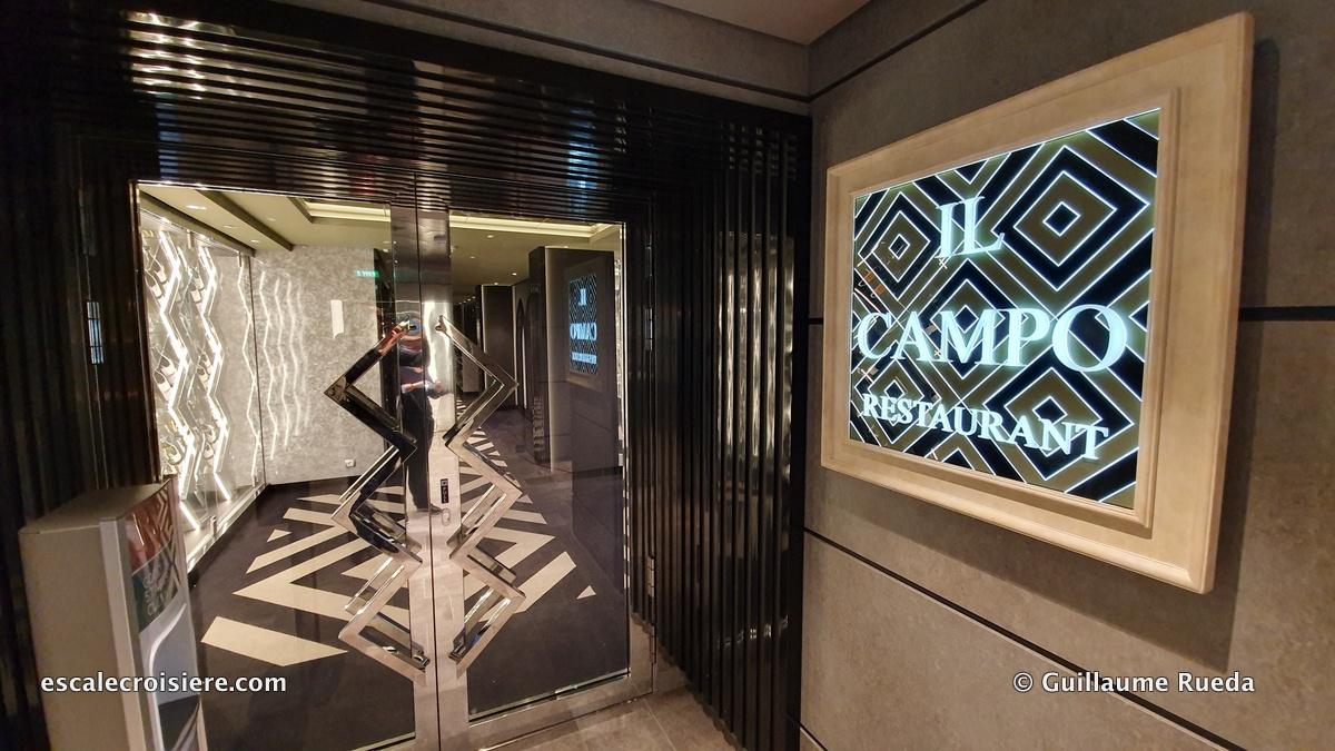 MSC Grandiosa – Il Campo restaurant | Escale croisière