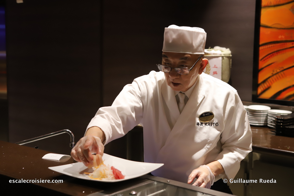 MSC Grandiosa - Kaito Sushi restaurant