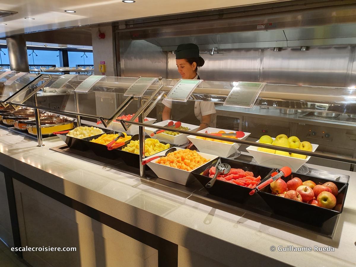 MSC Grandiosa – Market place buffet | Escale croisière