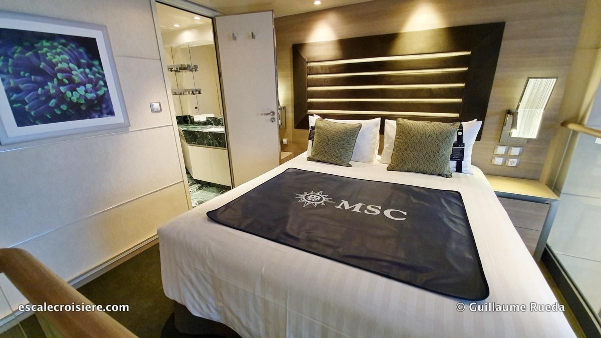 MSC Grandiosa – Suite duplex   Escale croisière