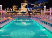 Norwegian Encore by night