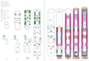 Plan des ponts Norwegian Encore deck plan