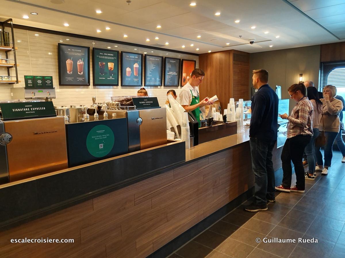 Starbuck café - Norwegian Encore