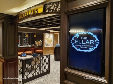 The Cellars Wine bar - Norwegian Encore