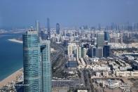 Abu Dhabi - Etihad towers observation deck at 300