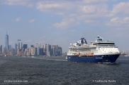 Celebrity Summit quittant New York depuis Cape Liberty