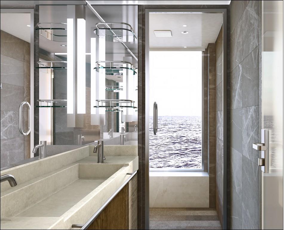 Silver Origin - Silversea - Suite Deluxe veranda SdB