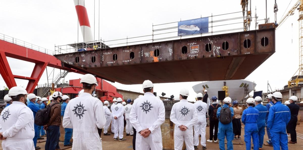 2020-06-29_Pose quille MSC World Europa-Chantier De L'Atlantique
