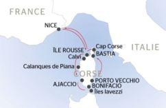 La Belle des Oceans - Corse itinéraire - CroisiEurope