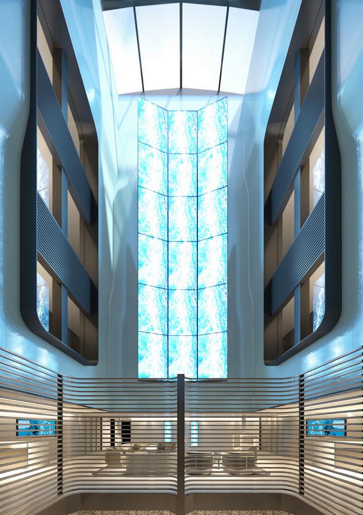 Ponant - Le Commandant-Charcot_Deck5-Lobby-Atrium_©PONANT-Wilmotte & Associés Architectes