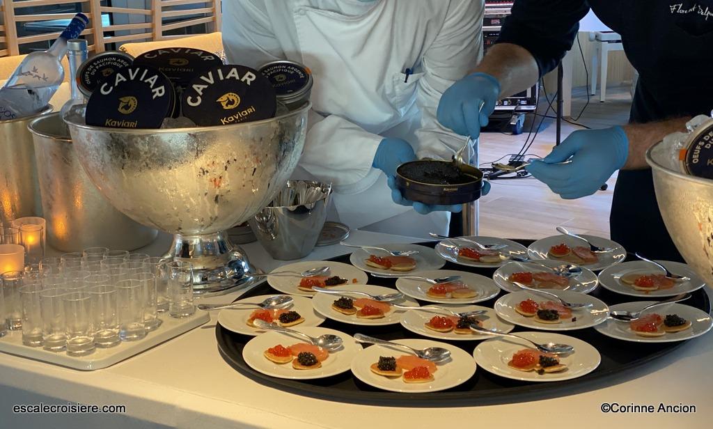 Chef Florent Delfortrie - Ponant - Caviar