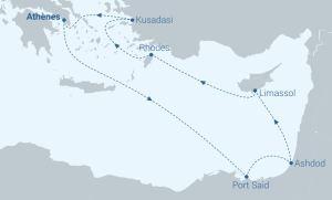 Itinéraire Celestyal - 3 continents