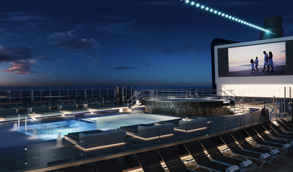 MSC Seashore - Piscine Long Island - pont 18