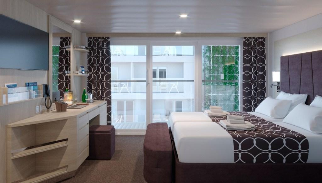 MSC World Europa - Cabine balcon vue promenade