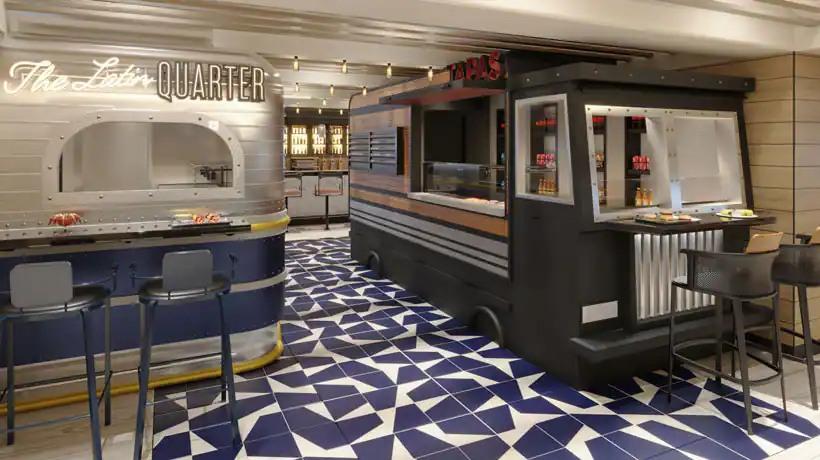 Norwegian Prima - Indulge food hall - Food trucks