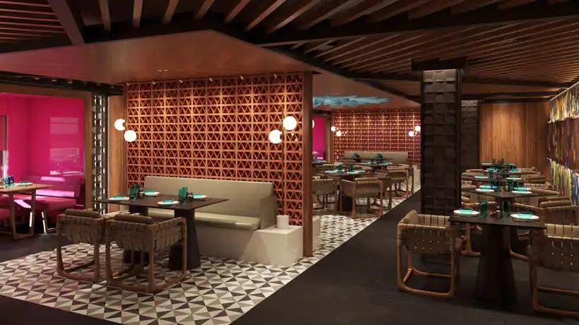 Norwegian Prima - Restaurant Mexicain Los Lobos