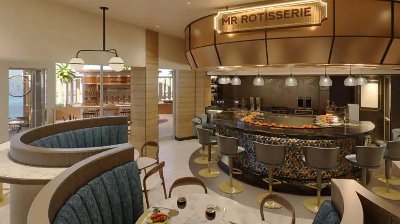 Norwegian Prima - Indulge food hall - Mr Rotisserie
