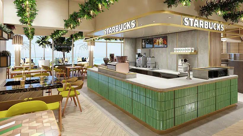 Norwegian Prima -Indulge food hall - Starbucks