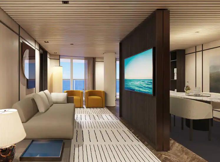 Norwegian Prima - Suite The Haven Living Room H3