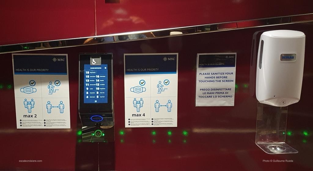 MSC Seaside - ascenseur